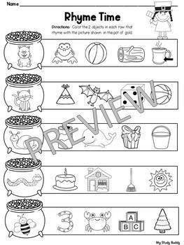 St. Patrick's Day Activities: Math & Literacy (Kindergarten, March Activities)