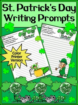 St. Patrick's Day Writing Activities: St. Patrick's Day Writing Prompts