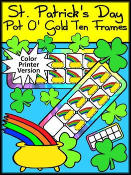 St. Patrick's Day Math Activities: Pot of Gold St. Patrick's Day Ten Frames