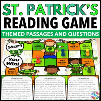 St. Patrick's Day Activity {Reading Comprehension Passages & Questions}