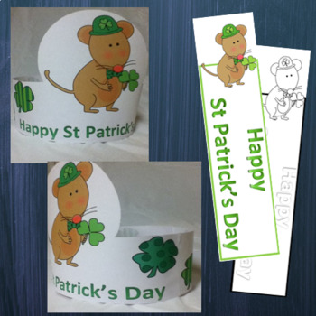 St. Patrick's Day Hats and Bookmarks, Craft for  March Activities