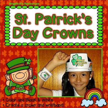 St. Patrick's Day Craft Activities : Crowns and Wristbands - Craft