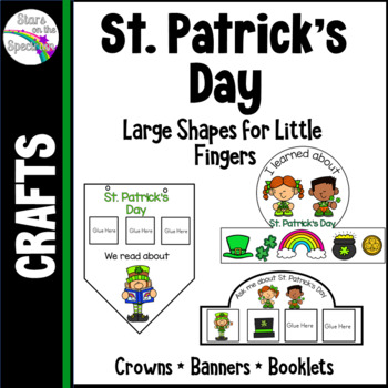 St. Patricks Day Activities - Crowns, Banners, Mobiles and Booklets