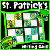 St. Patrick's Day Writing Prompt Quilt: If I Found a Pot of Gold, I am Lucky etc
