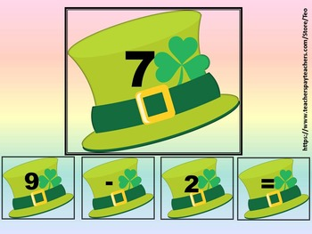 St. Patrick's Day - Math - Subtraction