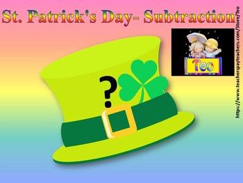 St. Patrick's Day - Math - Subtraction