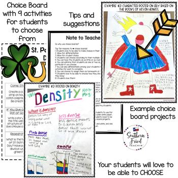 St Patrick's Day Choice Board
