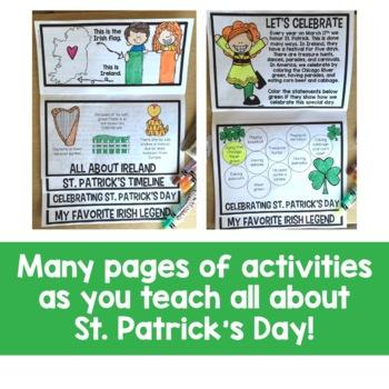 St. Patrick's Day Flip Up Book