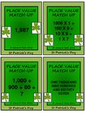 St Patrick's Day Place Value - Math - Grade 3, Grade 4, Grade 5 & Grade 6