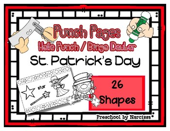 St. Patrick's Day - 26 Shapes - Hole Punch Cards / Bingo Dauber Pages