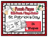 St. Patrick's Day - 26 Shapes - Hole Punch Cards / Bingo D