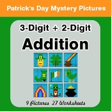 St Patrick's Day: 3-Digit + 2-Digit Addition - Color-By-Number Mystery Pictures
