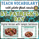 St. Patrick's Day Digital Photo Flash Cards with Sample Sentences