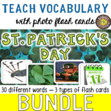 St. Patrick's Day Photo Flash Cards BUNDLE for ESL/ELL teens