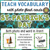 St. Patrick's Day Photo Flash Cards Photo and Word in Fron
