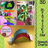 St. Patrick's Day 3D Speech Therapy Crafts {articulation language craftivities}