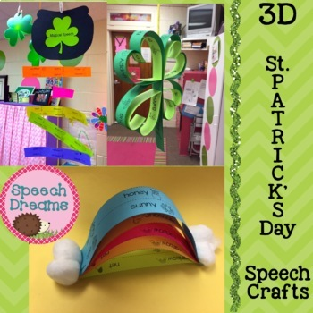 St. Patrick's Day 3D Speech Therapy Crafts {articulation l