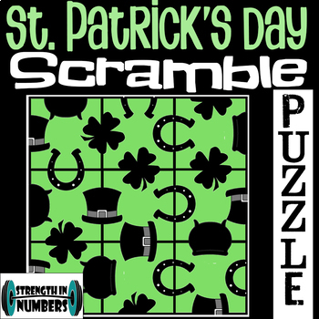 St. Patrick's Day 3x3 SCRAMBLE Puzzle for Early Finishers