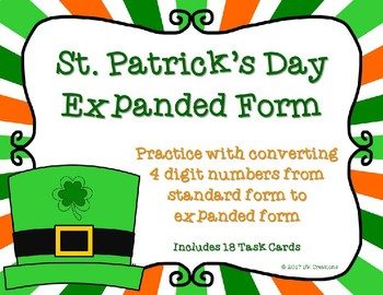 Expanded Form with 4 Digit Numbers {St. Patrick's Day}