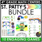 St. Patrick's Day 4th Grade Math Centers BUNDLE