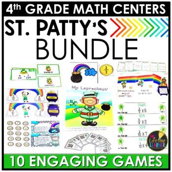 St. Patrick's Day 4th Grade Math Centers BUNDLE