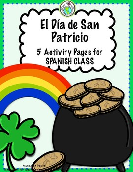 St Patrick's Day 5 Activity Pages in SPANISH San Patricio