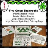 St Patrick's Day 5 Little Shamrocks Poem Interactive