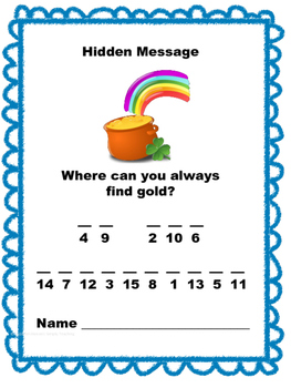 St. Patrick's Day 5th Grade Math Review Scavenger Hunt Common Core