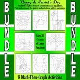 St. Patrick's Day - 7 Math-Then-Graph Activities - Solve 3