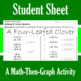 St. Patrick's Day - A Four-Leafed Clover - Math-Then-Graph - Solve 15 Systems