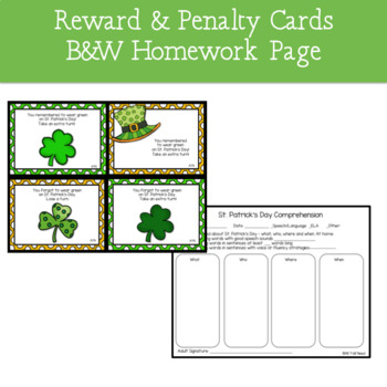 St. Patrick's Day - A WH- Questions Game