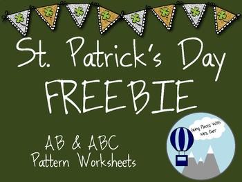 St. Patrick's Day AB & ABC Patterns FREEBIE