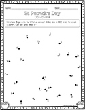 St. Patrick's Day: ABC Dot-to-Dot