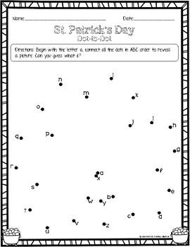 St. Patrick's Day: ABC Dot-to-Dot