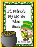 St. Patrick's Day ABC File Folder Games