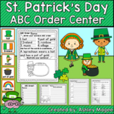 St. Patrick's Day ABC Order Center/Station with differenti