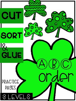 St. Patrick's Day ABC Order Sorts (3 Levels)