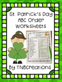 St. Patrick's Day ABC Order Worksheets
