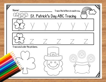 St. Patrick's Day ABC Tracing Printables
