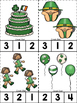 St. Patrick's Day ABC's & 123's Clip Cards {NO DITTOS}