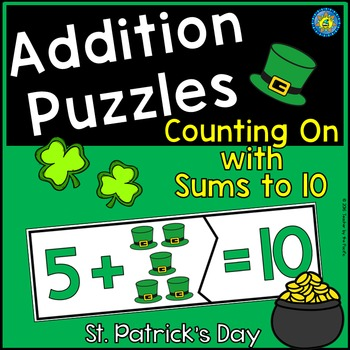 St. Patrick's Day ADDITION Puzzles
