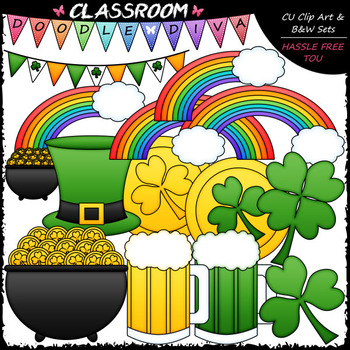 St. Patrick's Day Accents - Clip Art & B&W Set