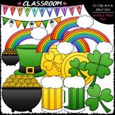 St. Patrick's Day Accents - Clip Art & B&W Set