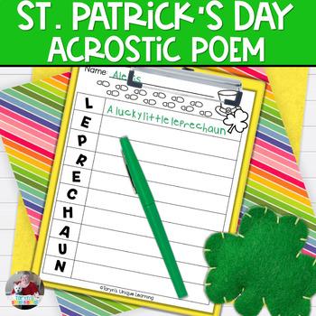 St. Patrick's Day Acrostic Poem