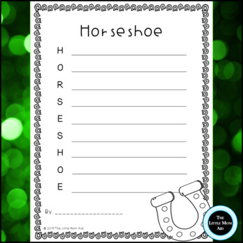 St. Patrick's Day Acrostic Poems