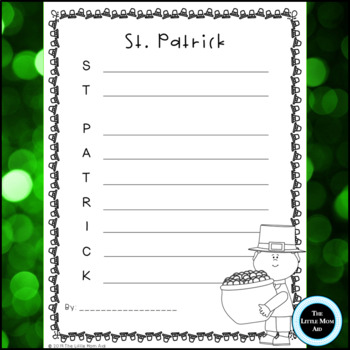 St. Patrick's Day Acrostic Poems Creative Writing Activity