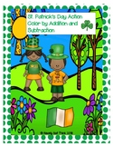 St. Patrick's Day Action (Print & Go) Color by Addition an