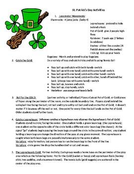 St. Patrick's Day Activiites