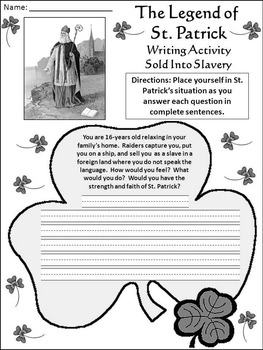 St. Patrick's Day Reading Activities: The Legend of Saint Patrick