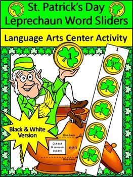 St. Patrick's Day Spelling Activities: Leprechaun Word Sliders